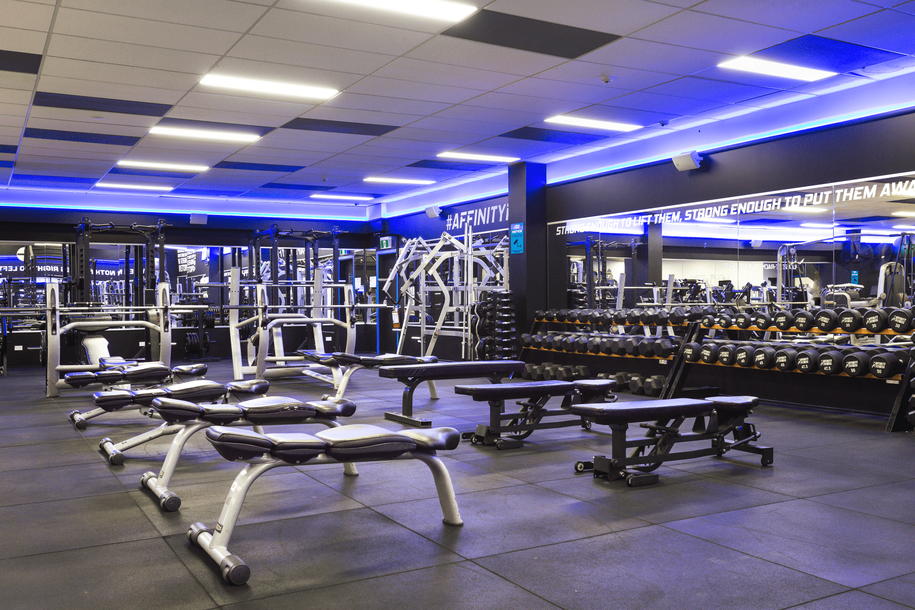 Weight Lifting Area - Weights & exercise machines